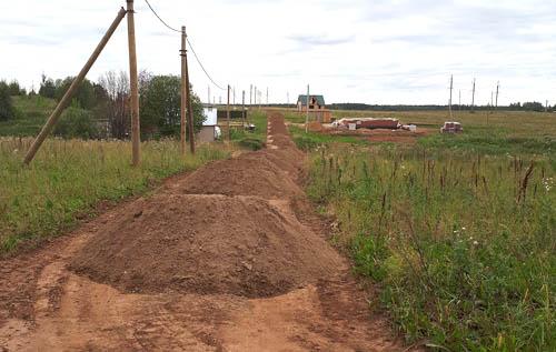 В Чудесной Долине идет строительство дорог и подъездов к участкам
