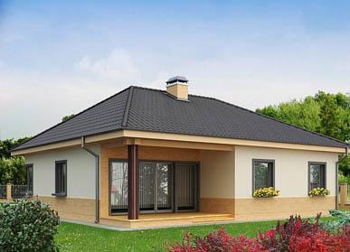 Проект дома из СИП-панелей С-03
