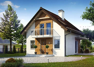 Проект дома из СИП-панелей С-06