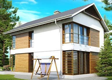 Проект дома из СИП-панелей С-07