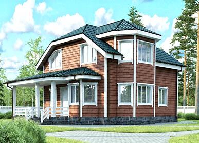 Проект каркасного дома Д-14