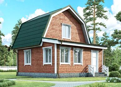 Проект каркасного дома Д-01